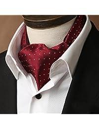 PENGFEI Seda Corbata Bufanda de los Hombres Negocio Camisa Toalla de Escote Primavera y otoño Bordado