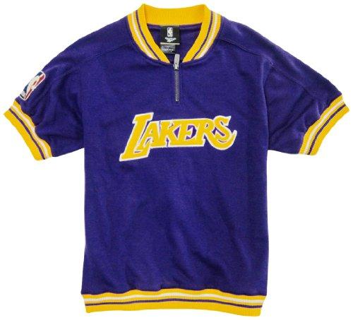Fleece-t-shirt (Reebok Los Angeles Lakers Mädchen Hartholz Classic Lila Fleece Youth T-Shirt, Jungen Mädchen, Violett, X-Large)