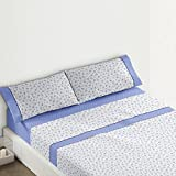 Burrito Blanco - Juego de sábanas Claro de Luna 682 para cama 135x190/200 cm, color azul