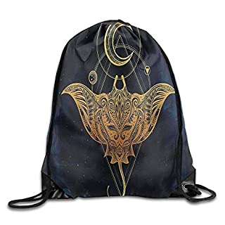 CSXKUL Psychedelic Mystic Alchemy Symbol Hidden Sign of Universe Holy Science Artful Image Drawstring Bags Sports Gym Backpack