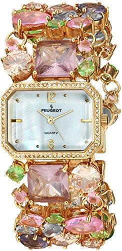 Peugeot Femme mosaïque en verre coloré Bracelet de montre