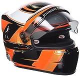 Mini Helmet vandoorne2017cuffia–S. vandoorne–McLaren Honda 2017–Scala 1/2, Nero/Bianco/Arancione