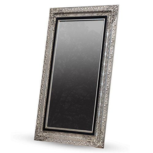 DESIGN DELIGHTS GROßER BAROCK WANDSPIEGEL LAURA facettenschliff Spiegel silber 120x200 cm