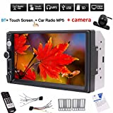 Free Rear view camera + Double din 2din car MP5 player 7'' digital