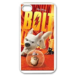 iPhone 4 4s white phone case Bolt Disney Maverick Fantasy Funny Terror Tease Magical YHNL797892445