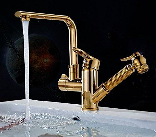 GFEI tout type de cuivre avec robinet / le chaud et le froid cuisine lavabo orientable bassin télescopique rotative