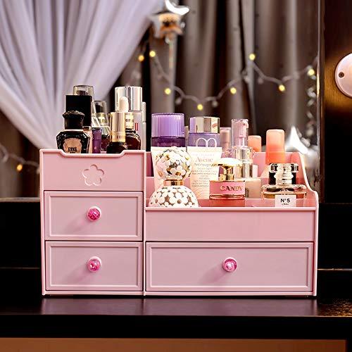 Kunststoff Kosmetik Veranstalter, Rosa Schritt Schublade Lippenstift Lidschatten Parfüm Arbeitsplatte Display Aufbewahrungsbox