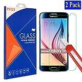2X plt24 Samsung Galaxy S6 Ultra-Klar Glasfolie Panzerglas Schutzfolie Displayschutzglas Schutzglas Hartglas für Samsung Galaxy S6 (2 Stück)