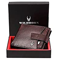 Wildhorn Genuine Leather Hand-Crafted Wallet Men Wallets, Brown, 10 cm - WHW126