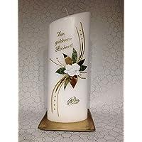Hochzeitskerze zur Goldenen Hochzeit, oval