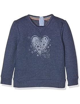 Tommy Hilfiger Mädchen Sweatshirt Heart Print Mini Cn Hwk L/S