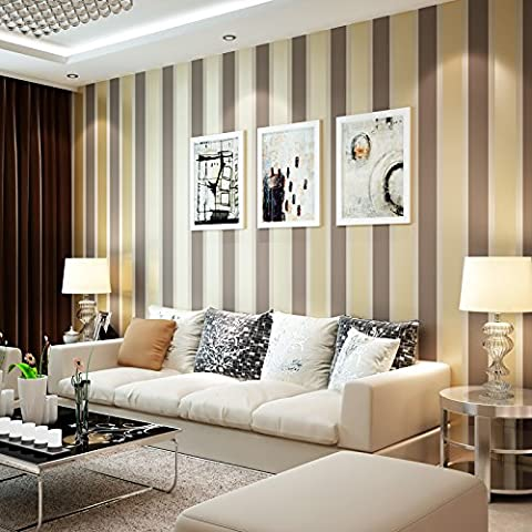 Simple Stripes Wallpaper moderne haut de gamme Wall-Wall Wallpaper to Micro Fibre Non Woven Wallpaper Bedroom Living Room TV Background Wall, Only the wallpaper, 305