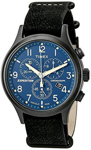 Timex Orologio Cronografo Quarzo Uomo con Cinturino in Pelle TW4B04200