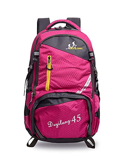 Multi-funzionale zaino alpinismo all'aperto borsa impermeabile per il tempo libero Borse da viaggio , purple rose red