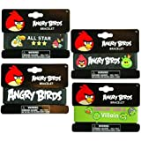 UPD INC 222060 Angry Birds Rubber Bracelet - Black/Green by UPD