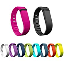 Hometalks 10pcs Deportes reemplazo banda reloj con Broches para Fitbit Flex (sin Rastreador) + 1pcs Hometalks mosquetón - grande