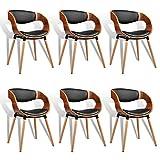 ESTEXO 1/2/4/6/8x Walnus Funier- Esszimmerstuhl Modell Henk, Esszimmerstühle, Holz, Stuhl, Stuhlgruppe, Küchenstühle (6 Stück)