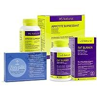 XS Natural Appetite Supressant: Cápsulas saciantes para controlar y reducir el apetito + XS Natural Fat Burner.