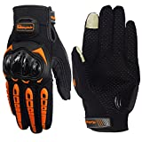 #10: Pitzo Probiker Tribe Full Finger Riding Gloves (Orange, XL)