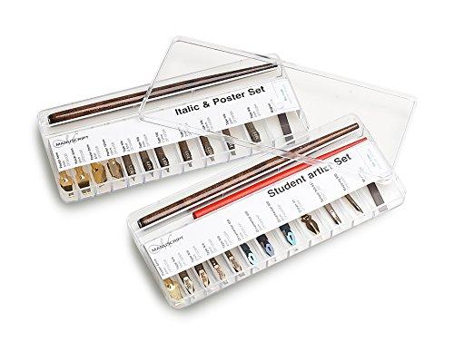 Manuscript MDP282 - Caja con selección de plumillas y 2 portaplumas, transparente