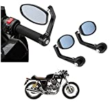 #6: AutoSun Bar End Mirror Rear View Mirror Oval For Royal Enfield Continental GT