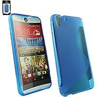 Emartbuy® HTC Desire Eye Ultra Slim Gel Hülle Schutzhülle Case Cover Blau