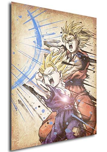 """Poster Dragon Ball """"Wanted"""" Goku & Gohan - A3 (42x30 cm)"""