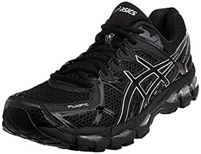 ASICS Men's Gel-Kayano 21 Onyx, Black and Silver Mesh Running Shoes - 13 UK