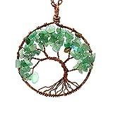 Baum des Lebens aus Naturstein handgefertigt Halskette Ornament Geburtstagsgeschenk Weihnachten Neujahr Vert 2