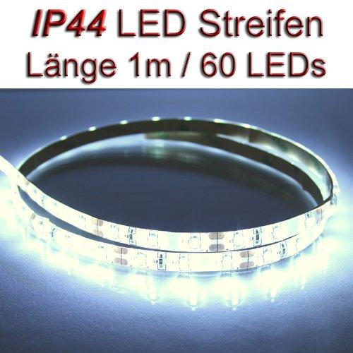LED Streifen Strip WEISS wasserdicht ca. 1 m 60x LEDs PCBw