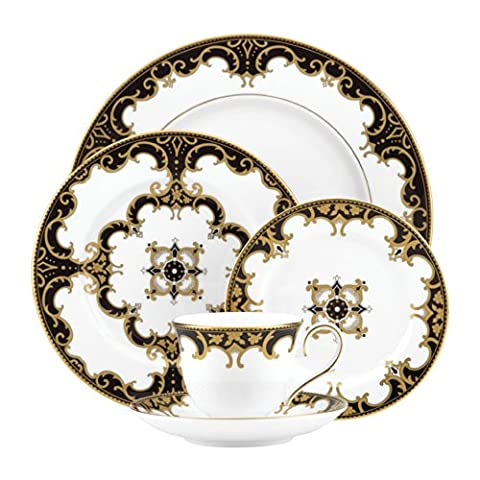 Lenox Marchesa Couture Night 5-Piece Dinnerware Place Setting, Baroque
