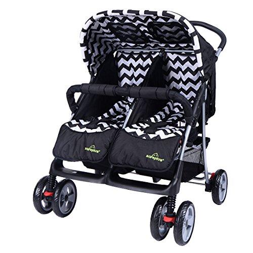 Zwillingskinderwagen nebeneinander  Safeplus le meilleur prix dans Amazon SaveMoney.es