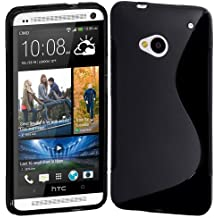 Easyplace Hard Case - Funda para HTC One Mini 2 (protector de pantalla, gamuza para limpieza), color negro