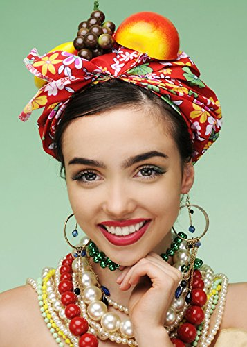 Carmen Miranda Style Bright Showgirl - Carmen Miranda Kostüm