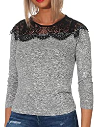 ONLY NOS Onlidaho Lace L/S Pullover Knt Noos, suéter para Mujer