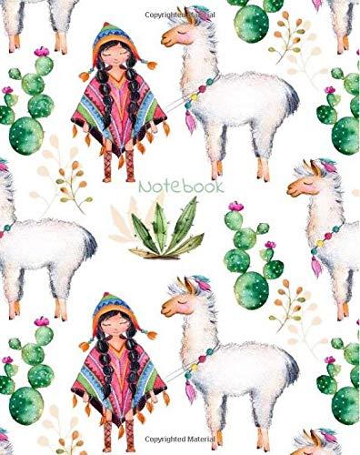Notebook: Alpaca Peruvian Composition Notebook 8''x10'' College Ruled Notebook (Notebooks)