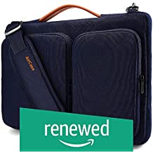 (Renewed) AirCase Messenger Laptop Bag with Shoulder Strap, Handle & 2 Multi Utility Compartments