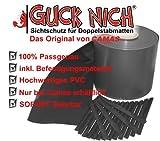 Sichtschutz Guch Nich für Doppelstabmatten, Blickdicht, Zaun, Zäune, Gartenzaun 35m RAL7016/anthrazit-grau