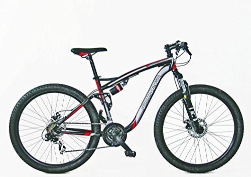 Girardengo Bicicletta MTB in Acciaio, con Sospensioni, Nero/Grigio