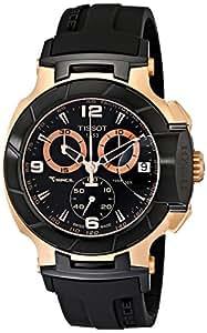 Tissot Men's T048.417.27.057.06 T-Sport Rose-Gold PVD Black Rubber Strap Watch
