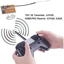 FancyWhoop LDARC TINY X8 RC Control remoto 8CH 2.4GHz Transmisor RC S-FHSS con receptor RX800-PRO S.BUS S-FHSS RX Kit de radio control