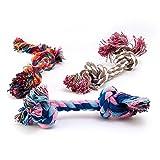 4yourpet Lot de 3jouets pour chien: cordes avec nœuds de 17cm