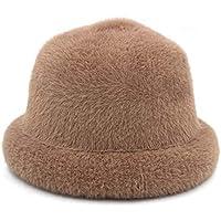 Sombrero - Sombrero de Mediana Edad Gorro de la Cuenca de la Madre del Invierno Sombrero de Hombre Viejo Abuela de imitación de otoño Sombrero de Lana + Bufanda (opción (Color : A)