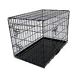 Oypla 92cm Klappmetall Hundekäfig Welpen Transport Kiste Pet Carrier