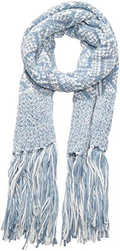 s.Oliver Damen Schal 39.510.91.6791, Einfarbig, Gr. One size, Mehrfarbig (white knit 02X1)