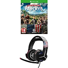 Far Cry 5 - Edición Limited [Exclusiva Amazon] + Thrustmaster - Auriculares Y-300CPX Far Cry 5 Edition (PS4, PS3, Xbox One, Xbox360, PC, VR, Nintendo Switch)