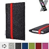 flat.design Filztasche COIMBRA mit rotem Gummiband für
