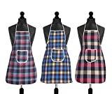 #8: Yellow Weaves Waterproof Cotton Kitchen Multi Colour Apron With Front Pocket - Set Of 3