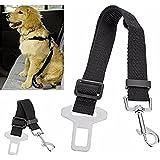 SBE Adjustable Dog Harness Seatbelt Nylon Fabric Pet Travel Safety Seat Belt Strap, Leads Vehicle Seatbelts Harness For Dogs (Black)