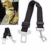 #10: SBE Adjustable Dog Harness Seatbelt Nylon Fabric Pet Travel Safety Seat Belt Strap, Leads Vehicle Seatbelts Harness For Dogs (Black)
